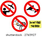 Do Not Feed The Birds Signs...