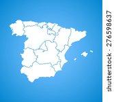 spain map | Shutterstock .eps vector #276598637