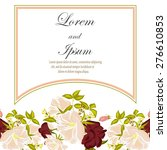 wedding invitation card with... | Shutterstock .eps vector #276610853