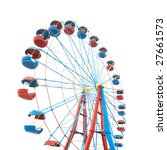 the ferris wheel isolated on... | Shutterstock . vector #27661573