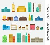 building  icon set concept for... | Shutterstock .eps vector #276620933