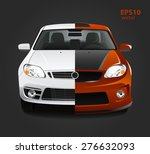 car tuning color 3d creative... | Shutterstock .eps vector #276632093