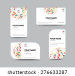 Business geometry low polygon on white background. business card template. vector illustration | Shutterstock vector #276633287