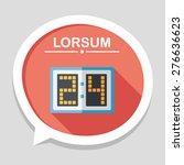 scoreboard flat icon with long... | Shutterstock .eps vector #276636623
