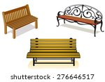 Diverse Set Of Benches Isolate...