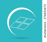 solar panel icon   Shutterstock .eps vector #276652673