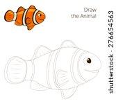 Draw The Fish Animal Clownfish...