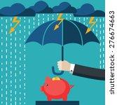 A Businessman With Umbrella...