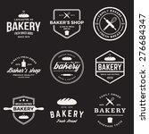 vector set of bakery labels ... | Shutterstock .eps vector #276684347