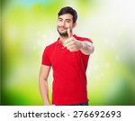 chinese man okay sign | Shutterstock . vector #276692693