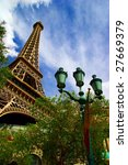 Stock photo replica of eiffel tower in las vegas 27669379