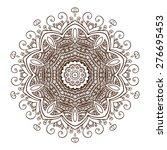 beautiful vintage circular... | Shutterstock .eps vector #276695453