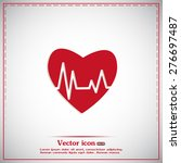 heart pulse icon | Shutterstock .eps vector #276697487