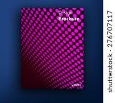 vector brochure   booklet cover ... | Shutterstock .eps vector #276707117