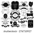 set of calligraphic elements... | Shutterstock .eps vector #276710927