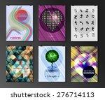 set of poster  flyer  brochure... | Shutterstock .eps vector #276714113