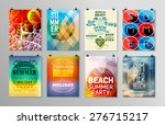 set of poster  flyer  brochure... | Shutterstock .eps vector #276715217