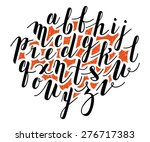 vector alphabet. hand drawn... | Shutterstock .eps vector #276717383