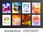 set of poster  flyer  brochure... | Shutterstock .eps vector #276724157