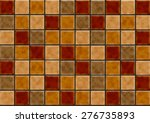browntile wall texture... | Shutterstock . vector #276735893