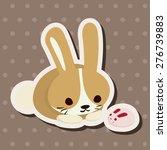 animal rabbit cartoon   cartoon ... | Shutterstock . vector #276739883