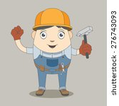 man construction worker  high... | Shutterstock .eps vector #276743093