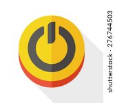 power button flat icon with...