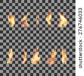 Set 10  Transparent Fire Flame...