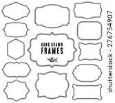 set of vintage contour blank... | Shutterstock .eps vector #276754907