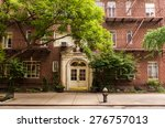old brownstone apartment... | Shutterstock . vector #276757013
