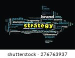 strategy word on cloud concept... | Shutterstock . vector #276763937