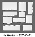 white blank ripped paper... | Shutterstock .eps vector #276783023
