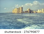 crusader sea castle in saida  ... | Shutterstock . vector #276790877