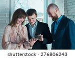 three men in business suits... | Shutterstock . vector #276806243