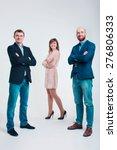 three men in business suits... | Shutterstock . vector #276806333