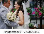 just married wedding couple... | Shutterstock . vector #276808313