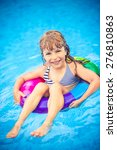 happy child playing in swimming ... | Shutterstock . vector #276810863
