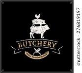 Retro Styled Butcher Shop Logo...
