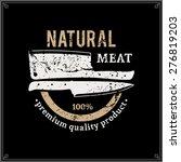 retro styled butcher shop logo  ... | Shutterstock .eps vector #276819203