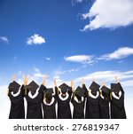 rear view of  students... | Shutterstock . vector #276819347
