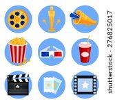 set of cinema icons vector | Shutterstock .eps vector #276825017