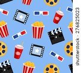 cinema icons vector seamless...