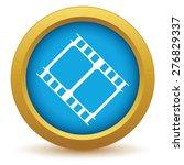 gold film icon on a white...