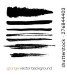 vector set of grunge brush... | Shutterstock .eps vector #276844403
