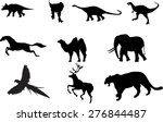 animals silhouettes set  | Shutterstock .eps vector #276844487