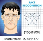 face recognition   biometric... | Shutterstock .eps vector #276844577