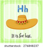 Flashcard Letter H Is For Hat...