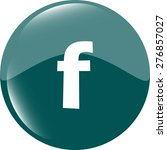 letter f vector flat icon. blue ... | Shutterstock .eps vector #276857027
