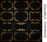 vector set of decorative hand... | Shutterstock .eps vector #276867023