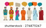 indian people talk   different... | Shutterstock .eps vector #276875267